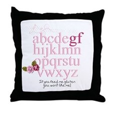 Gluten Free Alphabet Pink Throw Pillow