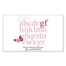 Gluten Free Alphabet Pink Decal