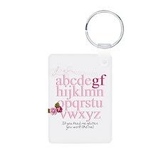 Gluten Free Alphabet Pink Keychains