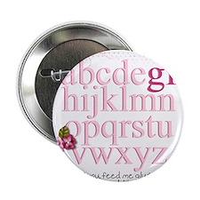 """Gluten Free Alphabet Pink 2.25"""" Button"""