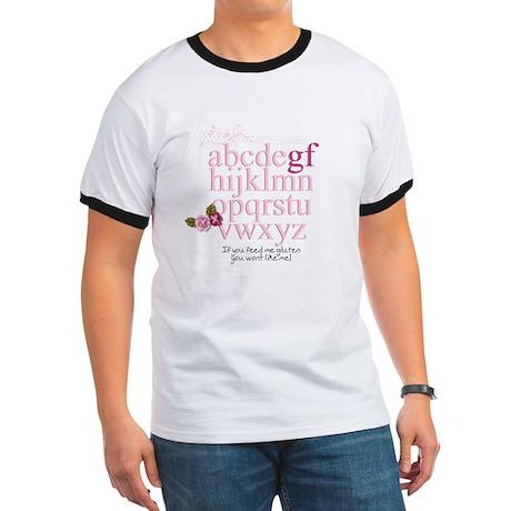 Gluten Free Alphabet Pink Ringer T