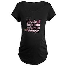 Gluten Free Alphabet Pink T-Shirt