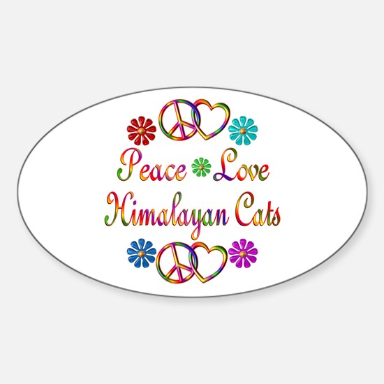 Himalayan Cats Sticker (Oval)