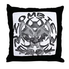 Zombie Reaper Throw Pillow