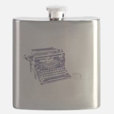 Vintage keyboard and mouse Flask