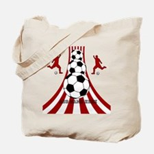 Personalized Red White Soccer Tote Bag