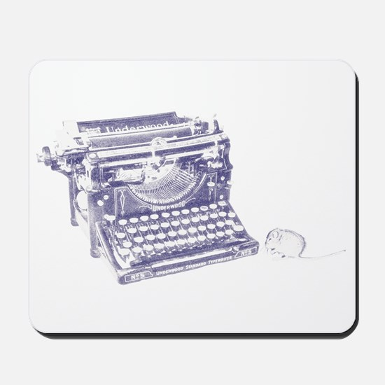 Vintage keyboard and mouse Mousepad
