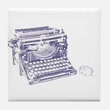 Vintage keyboard and mouse Tile Coaster