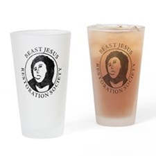 Beast Jesus Restoration Society Drinking Glass