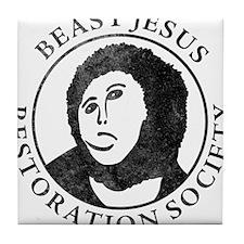 Beast Jesus Restoration Society Tile Coaster
