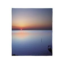 Low Beach Sunset (OBX) Throw Blanket