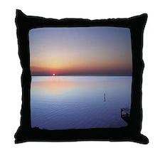 Low Beach Sunset (OBX) Throw Pillow