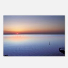 Low Beach Sunset (OBX) Postcards (Package of 8)