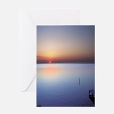 Low Beach Sunset (OBX) Greeting Card