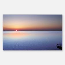 Low Beach Sunset (OBX) Sticker (Rectangle)