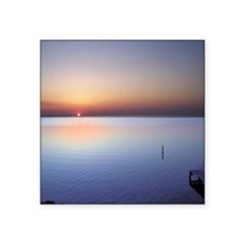 "Low Beach Sunset (OBX) Square Sticker 3"" x 3"""