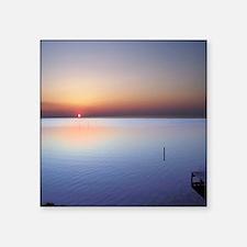 "Low Beach Sunset (OBX) Square Sticker 3"" x 3"""