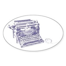 Vintage keyboard and mouse Decal