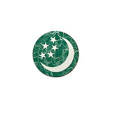 Turkmenistan Roundel Mini Button