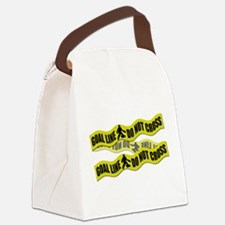 Field Hockey Crime Tape Canvas Lunch Bag