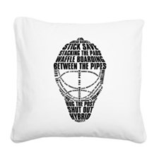 Hockey Goalie Mask Square Canvas Pillow