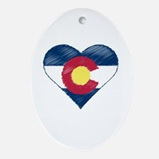 I Love Colorado Ornament (Oval)