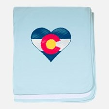 I Love Colorado baby blanket
