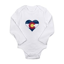 I Love Colorado Long Sleeve Infant Bodysuit
