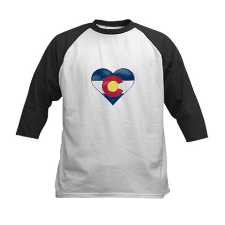 I Love Colorado Kids Baseball Jersey