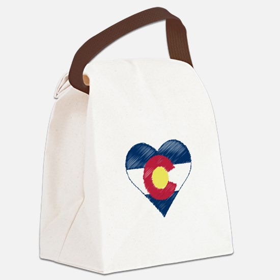 I Love Colorado Canvas Lunch Bag