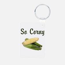 I LOVE CORN Keychains