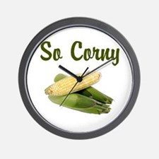 I LOVE CORN Wall Clock