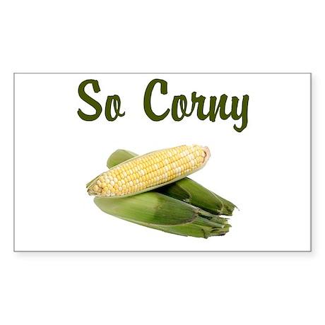 I LOVE CORN Sticker (Rectangle)
