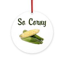 I LOVE CORN Ornament (Round)