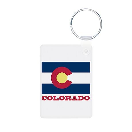 Colorado State Flag Aluminum Photo Keychain