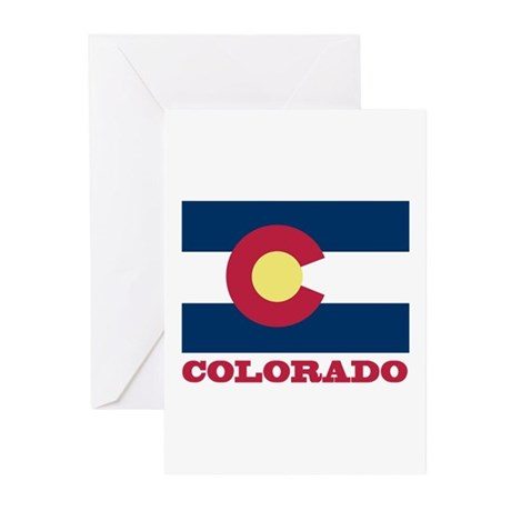 Colorado State Flag Greeting Cards (Pk of 10)