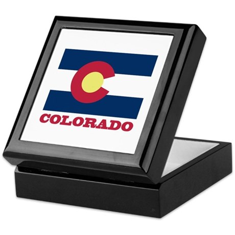 Colorado State Flag Keepsake Box
