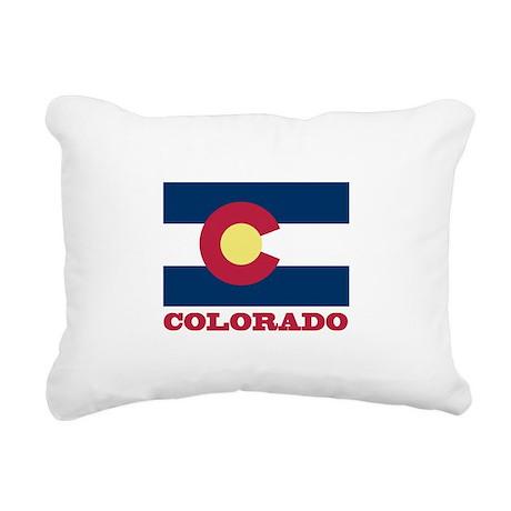 Colorado State Flag Rectangular Canvas Pillow