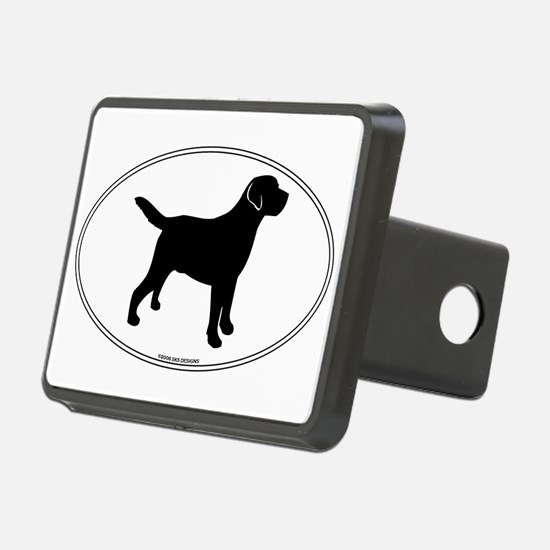 Black Lab Outline Hitch Cover