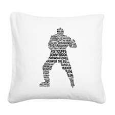 Hockey Enforcer Square Canvas Pillow