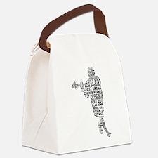Lacrosse Lingo Canvas Lunch Bag