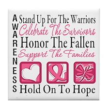 Breast Cancer StandUp Tile Coaster