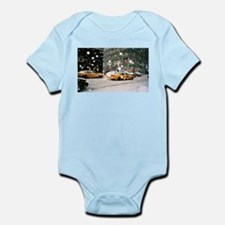 Yellow Taxi in Snow Infant Bodysuit