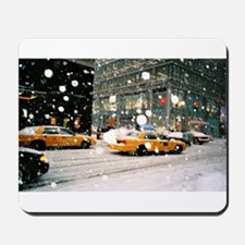 Yellow Taxi in Snow Mousepad