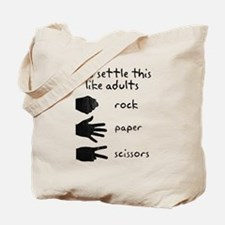 Settle This With Rock Paper Scissors Tote Bag