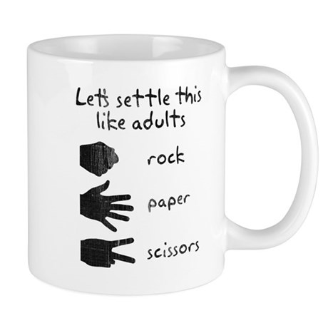 Settle This With Rock Paper Scissors Mug