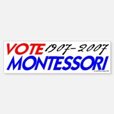 Vote Montessori (r/b) Bumper Car Car Sticker
