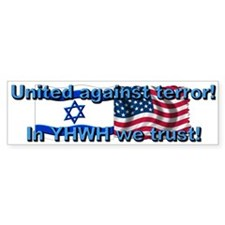 United against terror! Bumper Bumper Bumper Sticker