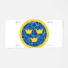 Sweden Roundel Aluminum License Plate