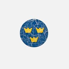 Sweden Roundel Mini Button